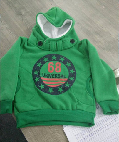 Winter  Boys cotton Tops Hooded  2-7 Y