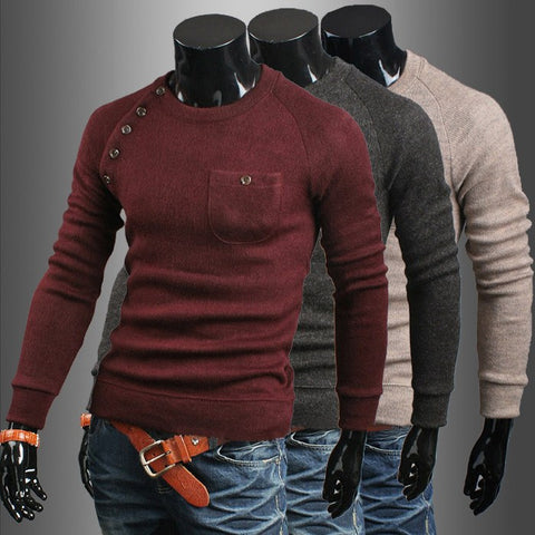 New Brand Casual Slim Sweaters