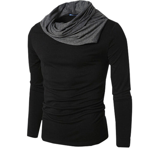 Pile collar slim fit sweater