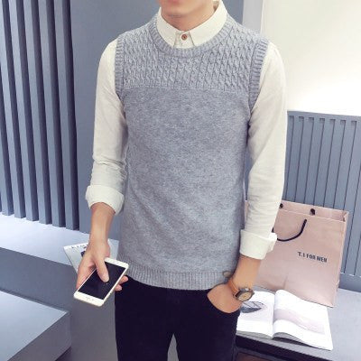 Slim Fit Knitting Sleeveless sweater