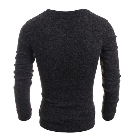 Slim fit long sleeve pullover
