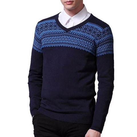 Slim fit printed pullover
