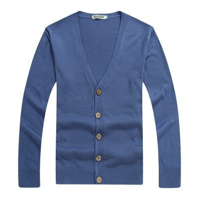 Slim fit V neck cardigan
