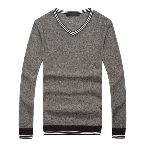 Slim fit V neck pullover
