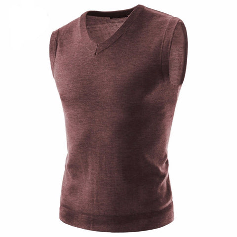 Soft sleeveless V neck pullover