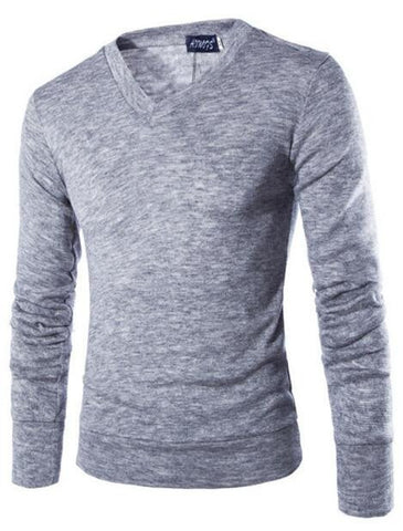 Stylish Knitted long sleeve V-Neck pullover
