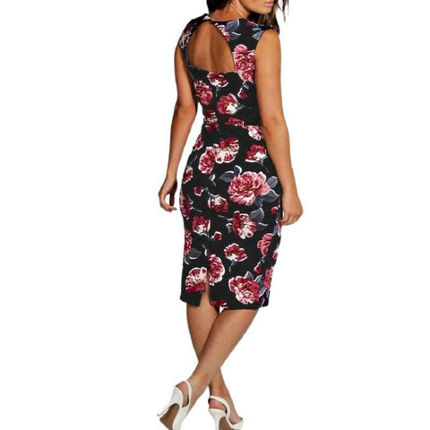 Sleeveless Floral Print Vintage Summer Dress