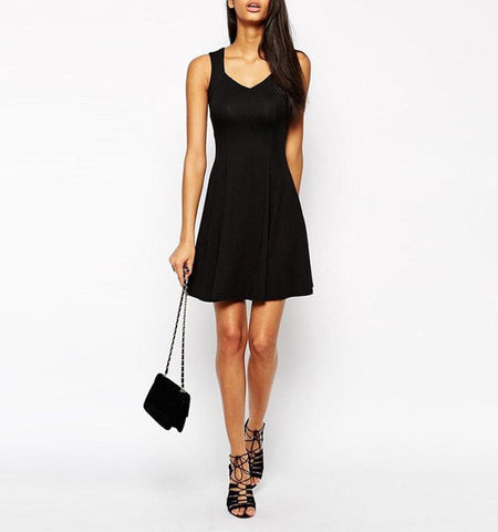 Sleeveless Knee Length Summer Dress