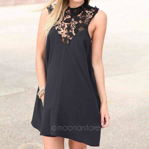 Sleeveless Round Neck Summer Dress
