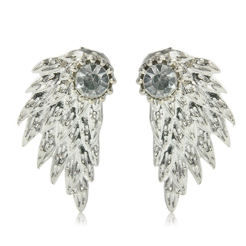 Angel Wings with Crystal Earrings