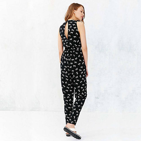 Animal Printed Women Jumpsuit