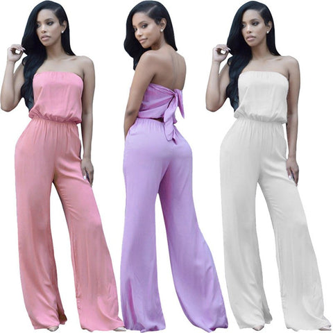 Strapless casual jumpsuits