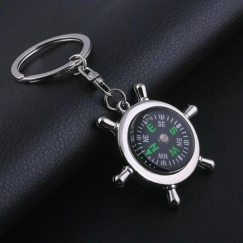 7 Styles 2017 Unique Creative Compass Rudder Bottle Opener Key Chain