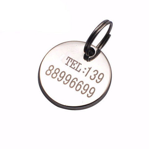 Anti-lost Custom-made Metal Round Card Key Chain