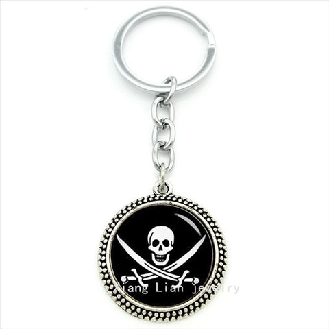 Authentic retro jewelry key chain