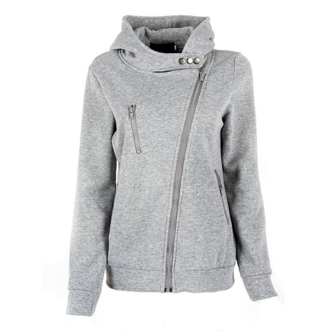 Autumn Winter Fashion Zipper Hooded