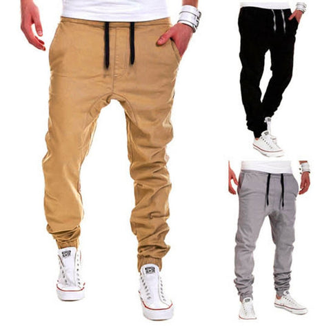 New Fashionable Design Casual Solid Pants Sweatpants Jogger trouser