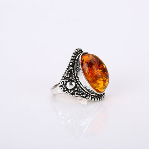 Bohemian Oval Resin Rings