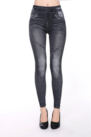 Brand new black and blue faux jeans