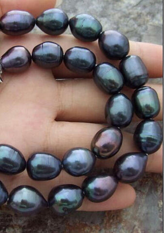 BEAUTIFUL NATURAL SOUTH SEA BAROQUE BLACK PEARL