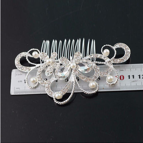 Bridal Wedding Butterfly Pearl Hairpin