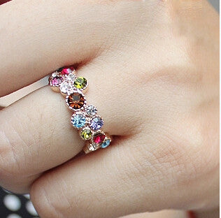Bohemian diamond ring
