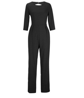 Backless long sleeve jumpsuit