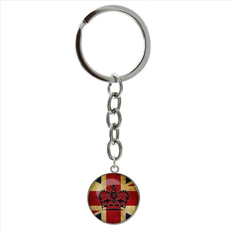 British Flag Old London Flag art picture pendant key chain