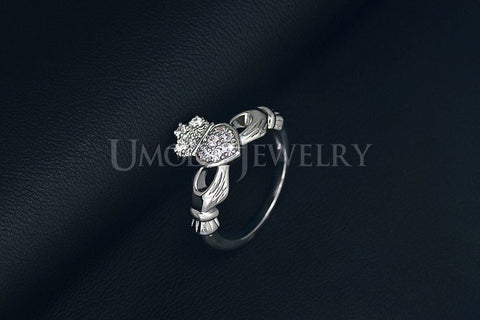 New Luxury White Gold Plated Hand&Heart&Crown