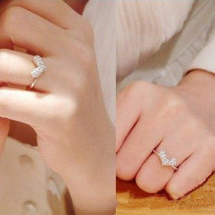 New style Fashion shiny love ring