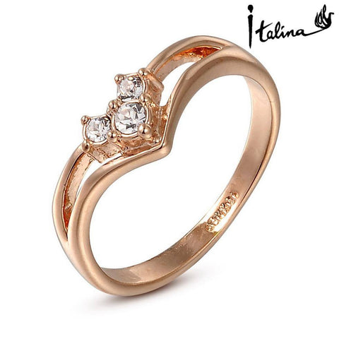 Real Italina Rigant Austrian Crystal 18KRGP gold Plated Rings