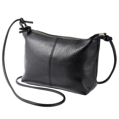 Solid Color Zipper Multi Functional Women Shoulder Bag