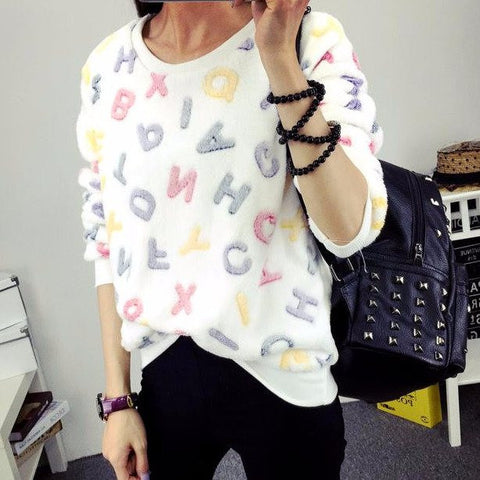 New Winter Long Sleeve Pullover Sweater Top