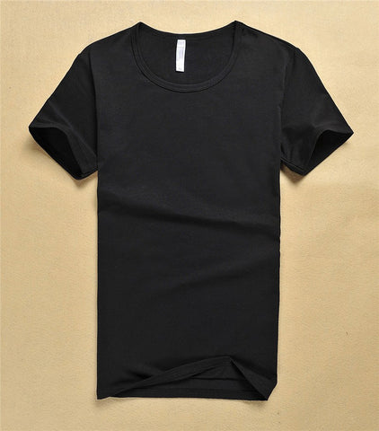 New Fashion Men Pure Color T-Shirts