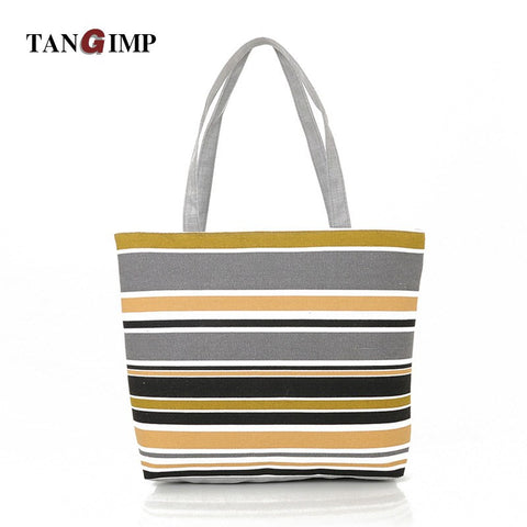 TANGIMP Vintage Canvas Bag Women Shoulder Bags