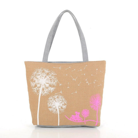 Vogue Star Sale New 2017 Fashion Dandelion Canvas Bag