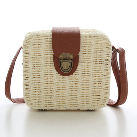 Women Beach Bags Rattan Design