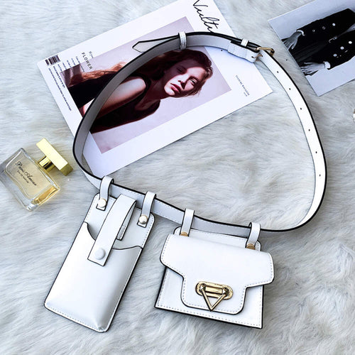 *** New Color*** Ari Waist Purse Fanny Pack - WHITE
