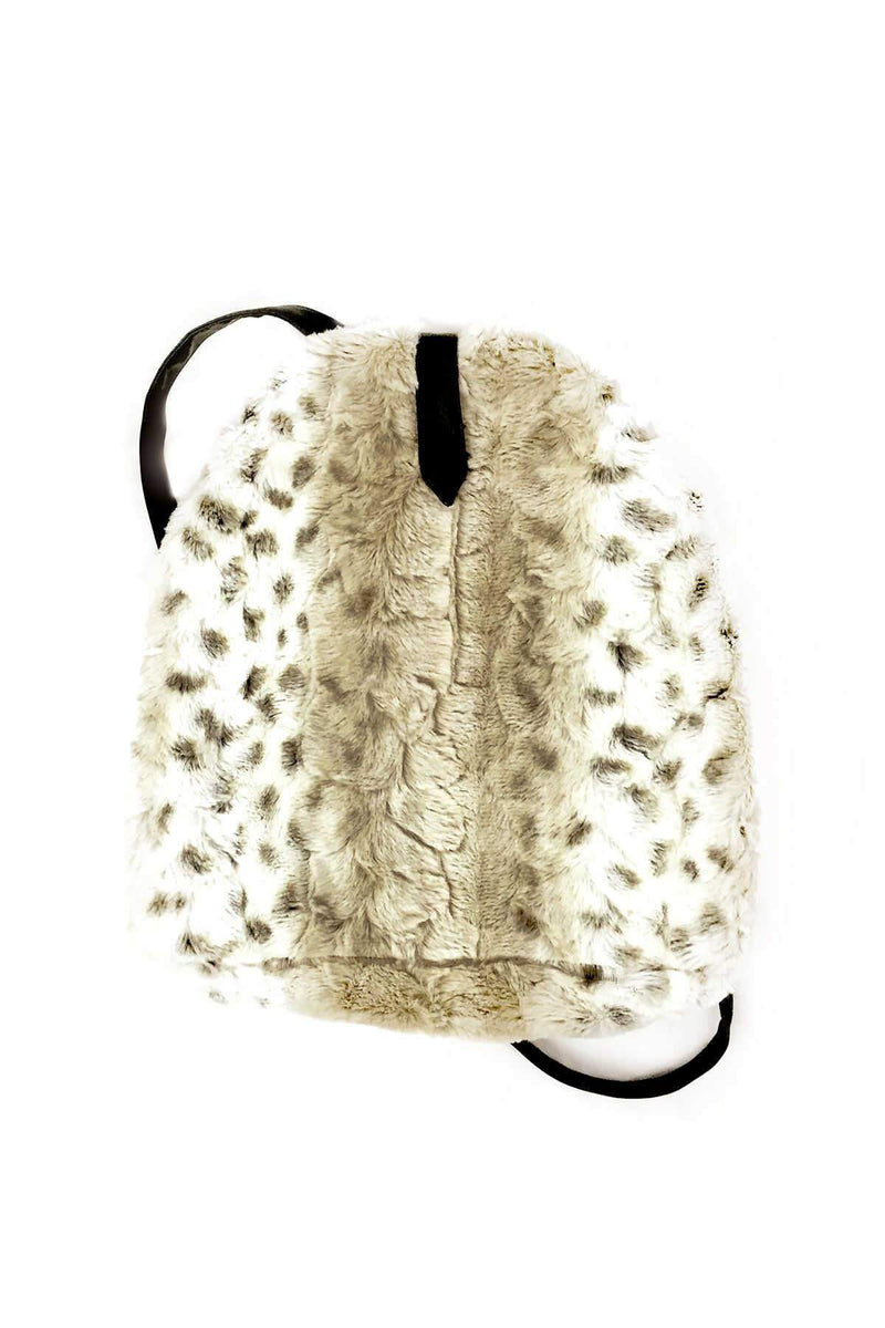 Leopard Faux Fur Back Pack