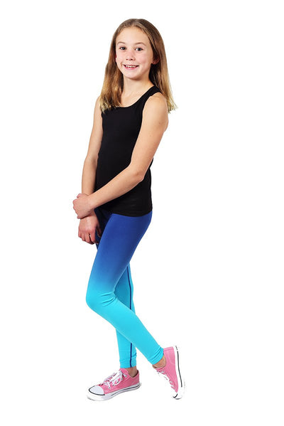 Seamless Basics Activewear Legging 2 Pack - Black and Navy Turquoise