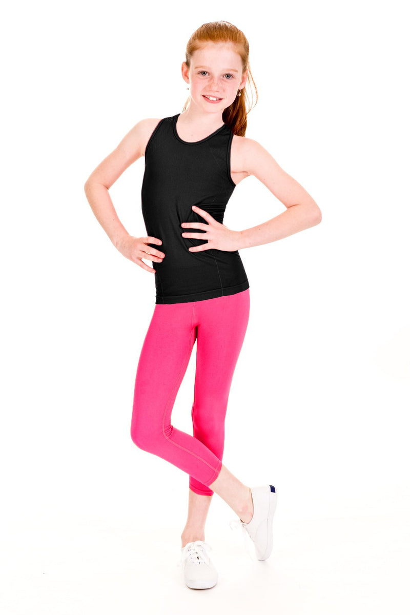 Seamless Activewear Capri Legging 2 Pack - Fuchsia and Fuchsia Melange