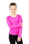 Seamless Activewear Tops 2 Pack - Turquoise Navy and Fuchsia