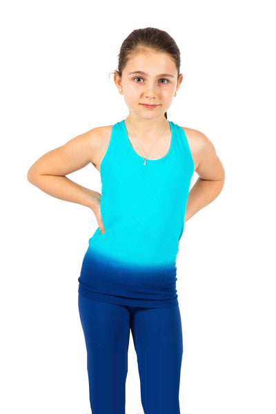 Seamless Basic Active Racerback Tank - Turquoise Navy