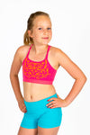 Seamless Basics Activewear 2 Pack  - Light Pink and Fuchsia Half Top