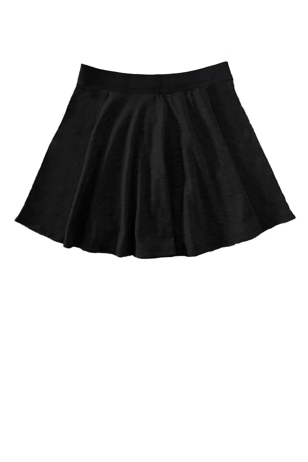 Velour Circle Skirt - Black
