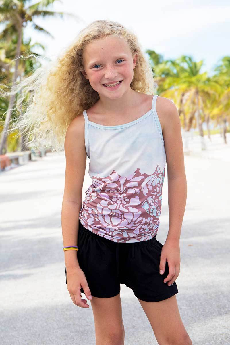 SMOCKED SHORTS - BLACK