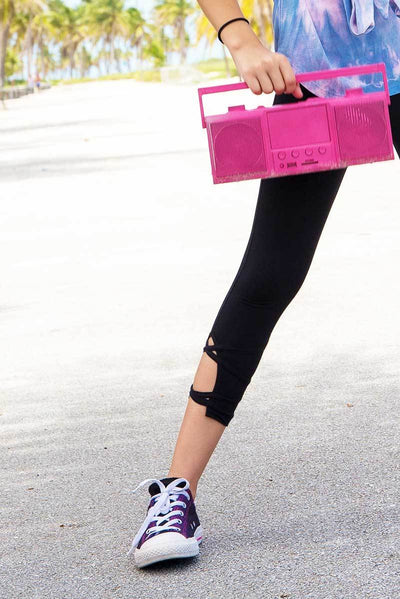 Capri Leggings - Cut-Out Cross Over Detail