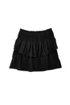 Black Smocked Ruffle Skirt