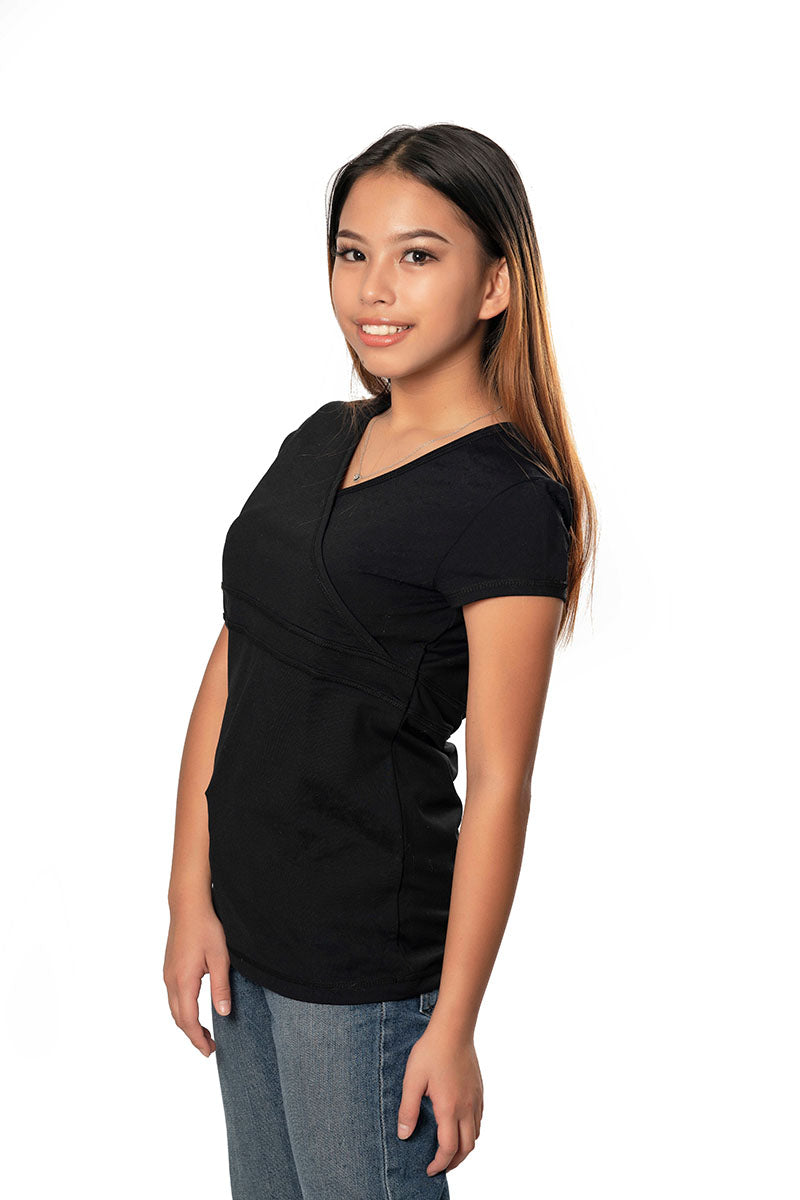 Activewear Crossover Top - Black