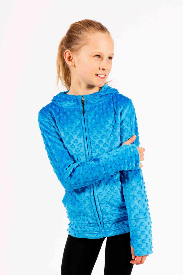 Kids Minky Bubble Hoodie - Blue by Limeapple